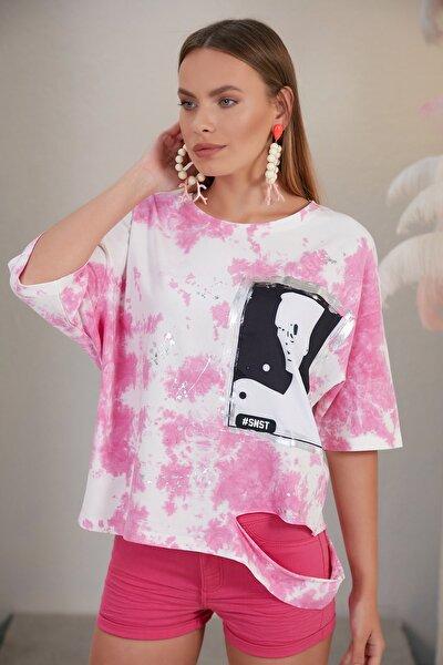 Kadın Pembe T-shirt