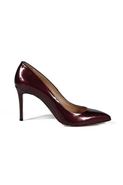Faye Bordo Rugan Kadın Stiletto & Abiye Ayakkabı