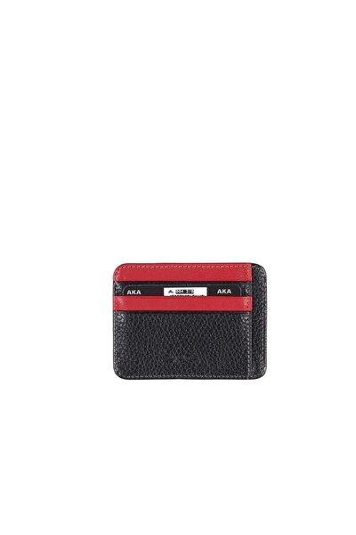 Deri Kartlık Siyah Kırmızı 004