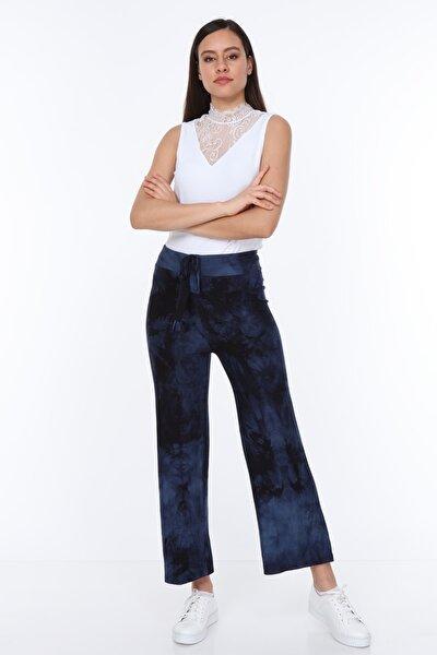 Batik Desenli Pantolon Lacivert