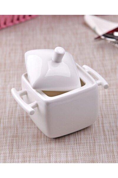 Porselen Şekerlik Kulplu 14,5-9,5-12,5 Cm