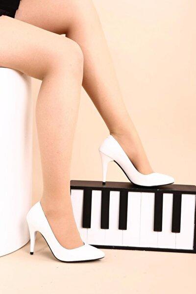 Beyaz Kadın Topuklu Ayakkabı 1943-72-1604
