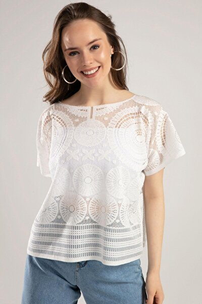 Kadın Dantel Detaylı Bluz Y20s102-1003