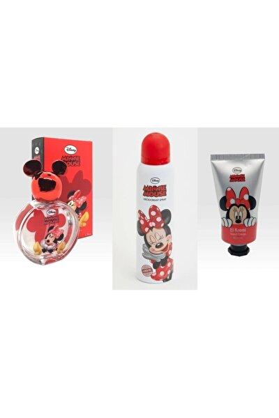 Minnie Mouse Parfüm 50 ml Edt + Deodorant + El Kremi