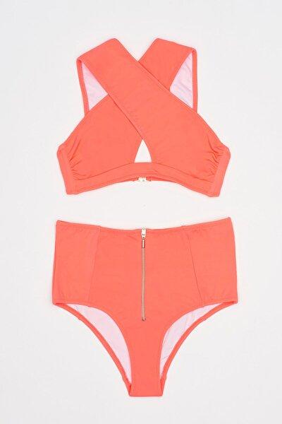 Cross Kadın Bikini -coral
