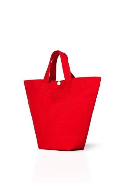 Kırmızı Gabardin Kumaş Çanta 38x29x11 cm (220 gr)