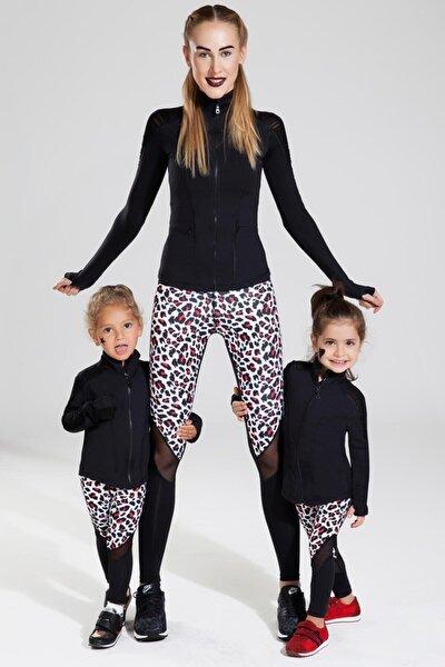 Tül Detaylı Siyah Çocuk Sweatshirt