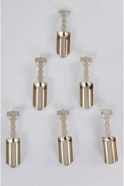 6'lı Metal Baharat Kaşığı-gümüş