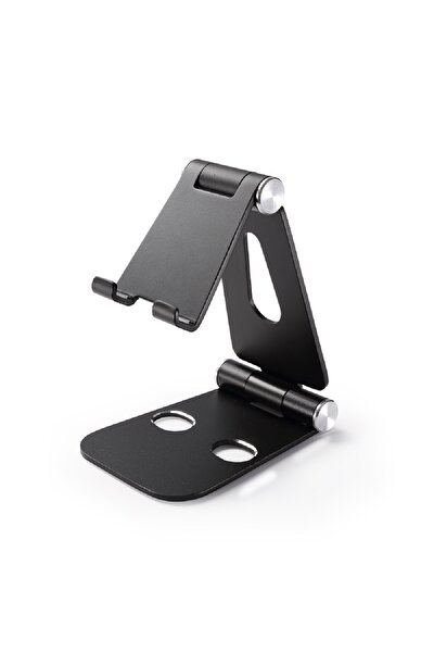 Alüminyum Ayarlanabilir Tablet Ve Telefon Stand Siyah