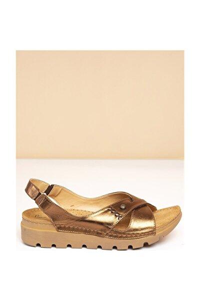 Kadın Bronz Sandalet