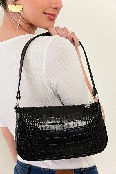 Kroko Desen Baguette Bag