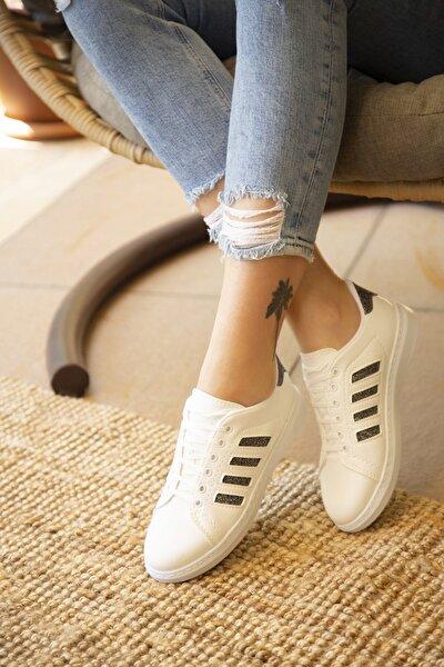 Beyaz Platin Kadın Spor Ayakkabı 4000-19-101001