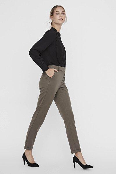 Kadın Haki Kumaş Pantolon 10225468 VMMAYA