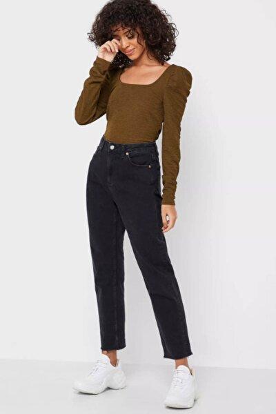 Kadın Haki Kare Yaka Omuz Detaylı Bluz 10230992 VMALPHA