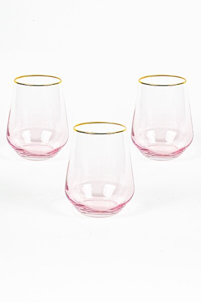 Harmoni 3'lü Su Bardağı Seti Pembe 425 cc