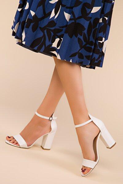 Beyaz Kadın Klasik Topuklu Ayakkabı 14532