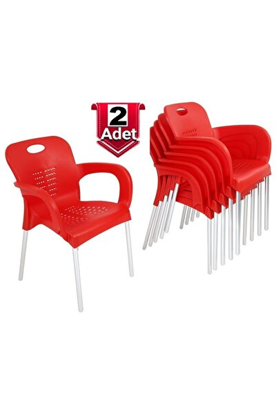 2 Adet Çok Sağlam Plastik Sandalye - Günün Fırsatı - Rahat Oturum - Ücretsiz Kargo