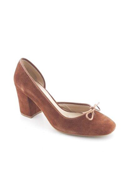 Kadın Taba Hakiki Deri Süet Ayakkabı