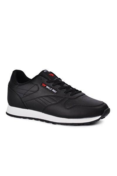 Memory Foam Siyah Beyaz Erkek Spor Ayakkabı Wlk23602