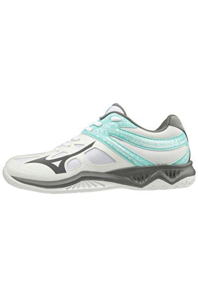 Unısex Beyaz Gri Voleybol Ayakkabısı