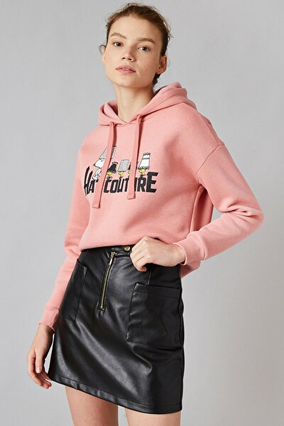 Kadın Pembe Sweatshirt 1KAL68894IK
