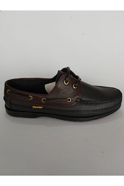 Hakiki Deri Siyah Bordo Ayakkabı