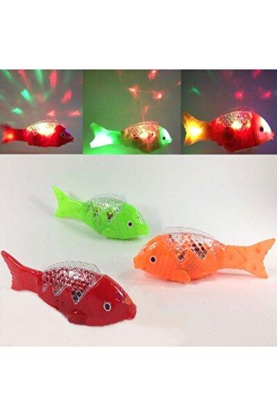 1 Adet Müzikli Işıklı Yürüyen Balık 23 Cm Pil Ile Çalışan Oyuncak Balık
