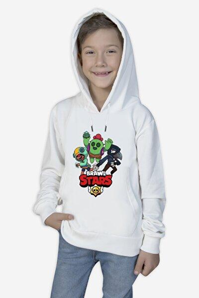 Unisex Çocuk Beyaz Sweatshirt