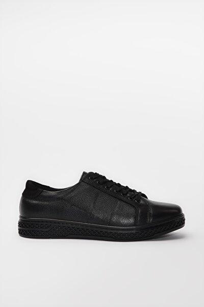 Hakiki Deri Siyah Erkek Sneaker 02AYY189670A100
