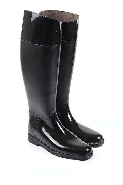 Kadın Siyah Yağmur Çizmesi 33002