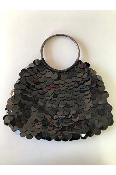 Siyah Pullu El Yapımı Çanta