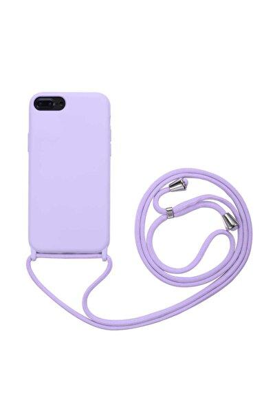 Apple Iphone 8 Plus Ropi Omuz Boyun Ipli Askılı Renkli Silikon Kılıf Kapak