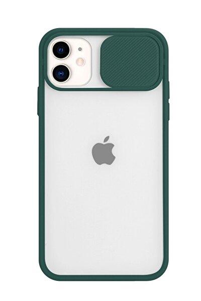 Iphone 11 Uyumlu Slayt Sürgülü Kamera Korumalı  Silikon Kılıf