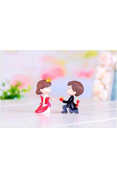 Teraryum Minyatür Sevimli Evlilik Teklifi Prens Prenses