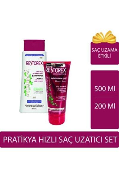 Hızlı Saç Uzatmaya Yardımcı Set: Restorex Şampuan & Maske