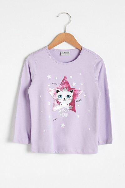 Kız Çocuk Lila T-Shirt