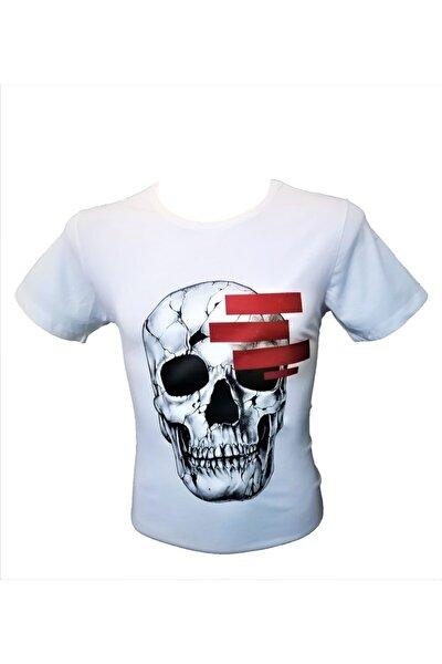 Unisex Beyaz Kafa Tası Baskılı T-shirt