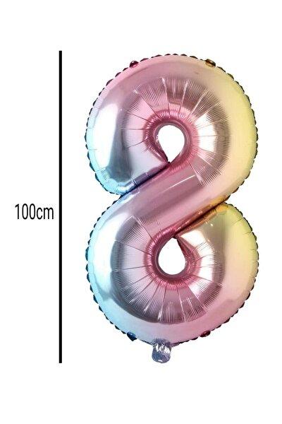 8 Rakamı Folyo Balon Renkli (100cm)