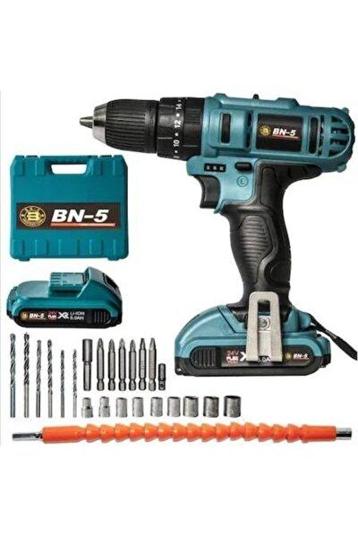 Banco 24 Volt 5 Ah Lion Çift Bataryalı Darbeli Ful Set Matkap