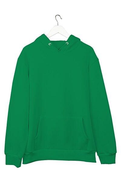 Yeşil Basic Hoodie