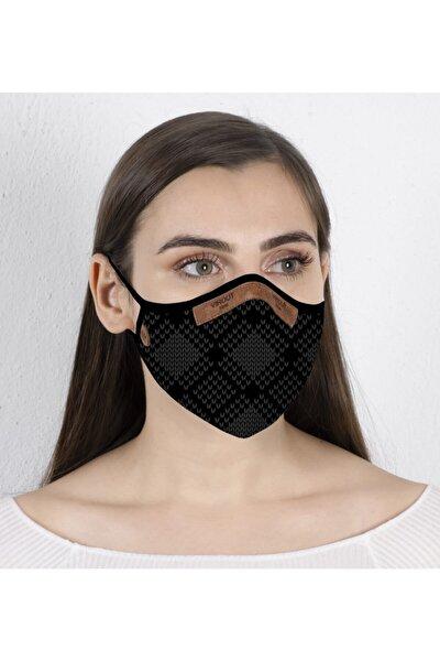 Kadın Giyilebilir Tasarım Bez   Graın Desen Maske