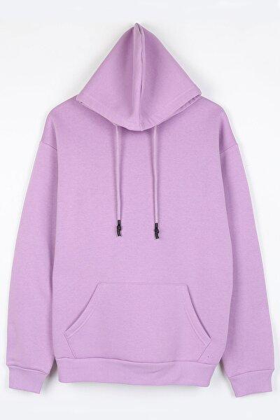 Unisex Lila  Basic Oversize Sweatshirt
