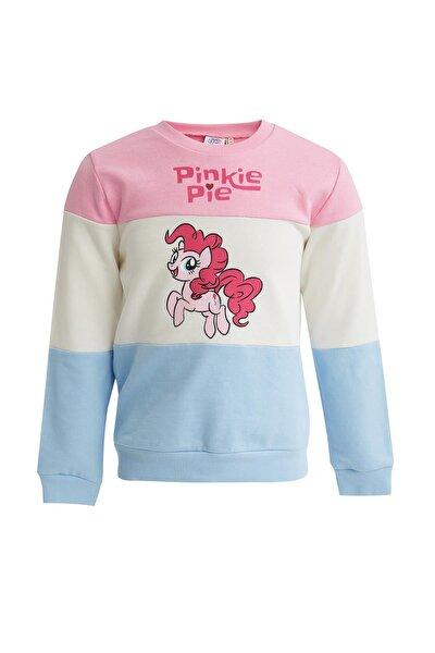 Kız Çocuk Pembe Bloklu My Little Pony Lisanslı Sweatshirt