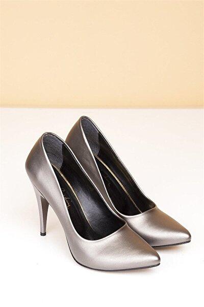 Kadın Platin Stiletto Ayakkabı