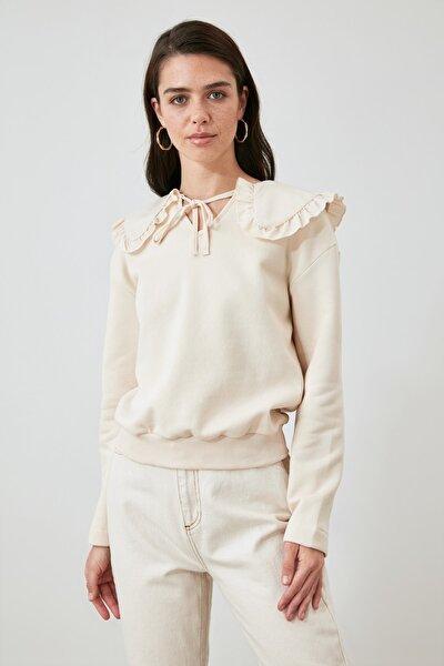 Taş Yaka Detaylı Örme Sweatshirt TWOAW21SW1545