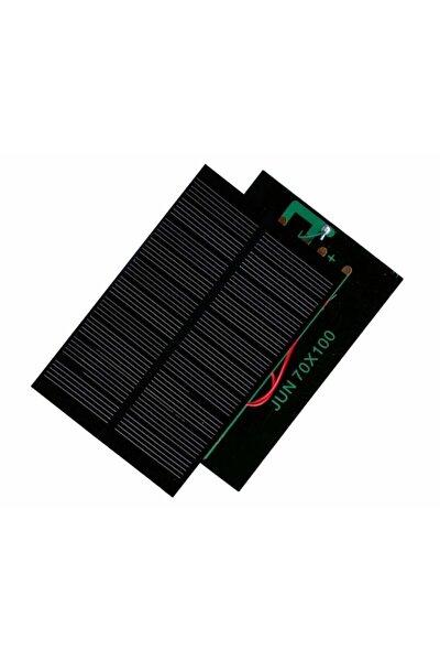 Küçük Mini Güneş Paneli 7cmx10cm 6 Volt 1 Amper + Ve - Uç Kablolu