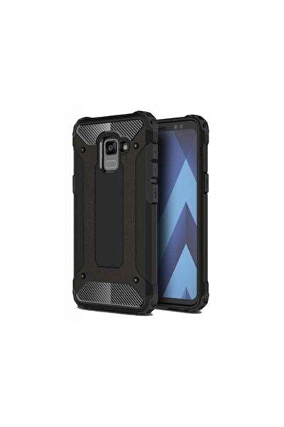 Teleplus Galaxy A8 2018 Ultra Koruma Tank Kılıf Siyah