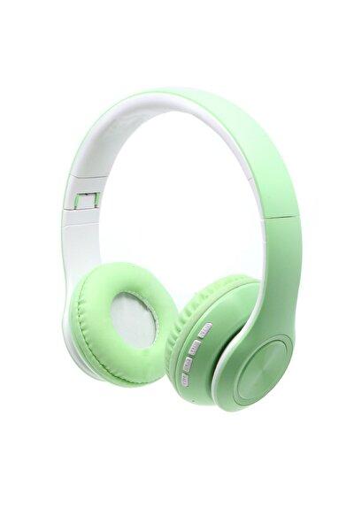 Kablosuz Mikrofonlu Bluetooth Kulaküstü Yeşil Kulaklık