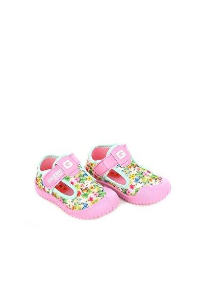 03043 Yeşil Pembe Keten Yazlık Çocuk Spor Ayakkabı
