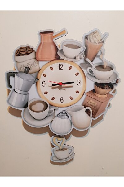Sallanır Sarkaçlı Mutfak Dekoratif Duvar Saati